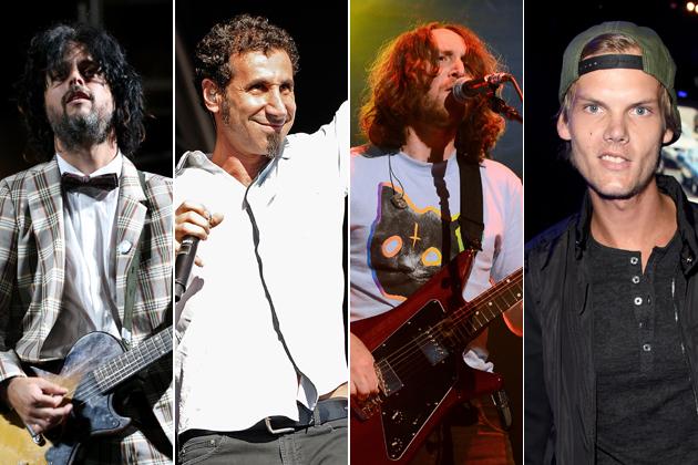 Billie-Joe-Armstrong-Serj-Tankian-Mike-Einziger-Avicii