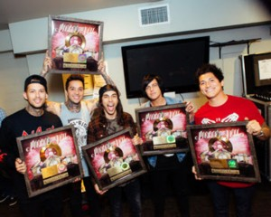 """Pierce the Veil, Gold Single Presentation, """"King For A Day"""" - 11"""