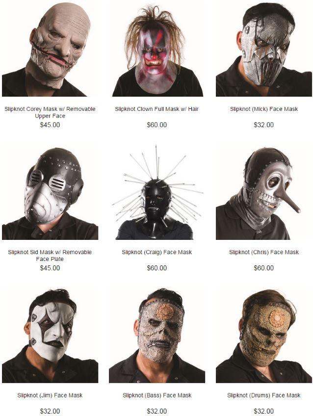 slipknot-halloween-masks